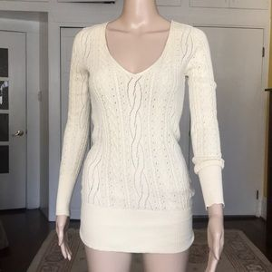 Cotton by Autumn cashmere beige sweater